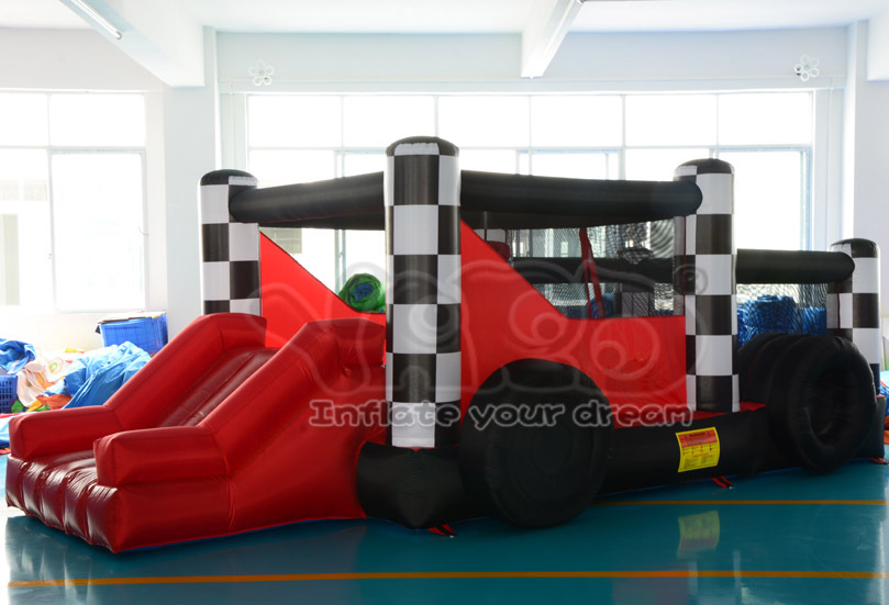 Home use bounce house inflatable car bouncer jumper moonwalk slide with blower(China (Mainland))