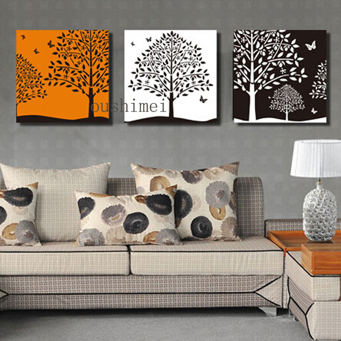 Hand Painted Oil Painting Abstract On Wall Tree Picture For Living Room Decor Modern Landscape Home Decor Hand Paintings