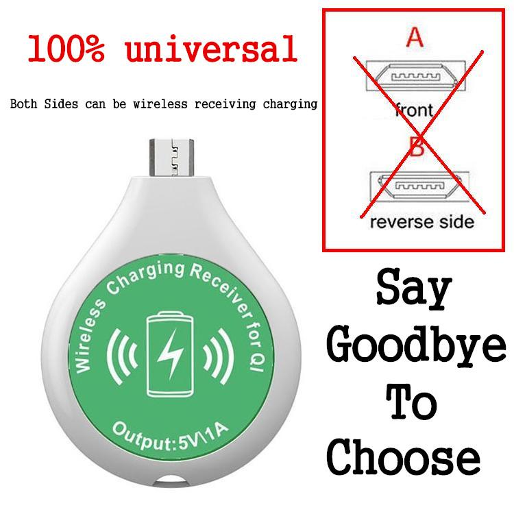 Universal New Qi Wireless Charger Receiver Charging Adapter Receptor Receiver Pad Coil THL OnePlus Honor Micro USB Mobile Phone(China (Mainland))