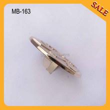 (MB-163) Free shipping 20pcs 3.7cm gold color handbag small round metal logo badge/ pin logo for garment/wallets decoration(China (Mainland))