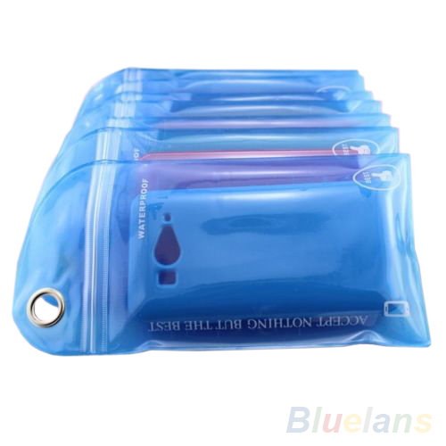 Wholesale 5Pcs/lot Waterproof Bag Case Cover Swimming Beach Pouch For iPhone Mobile Cell Phone 1NAO(China (Mainland))