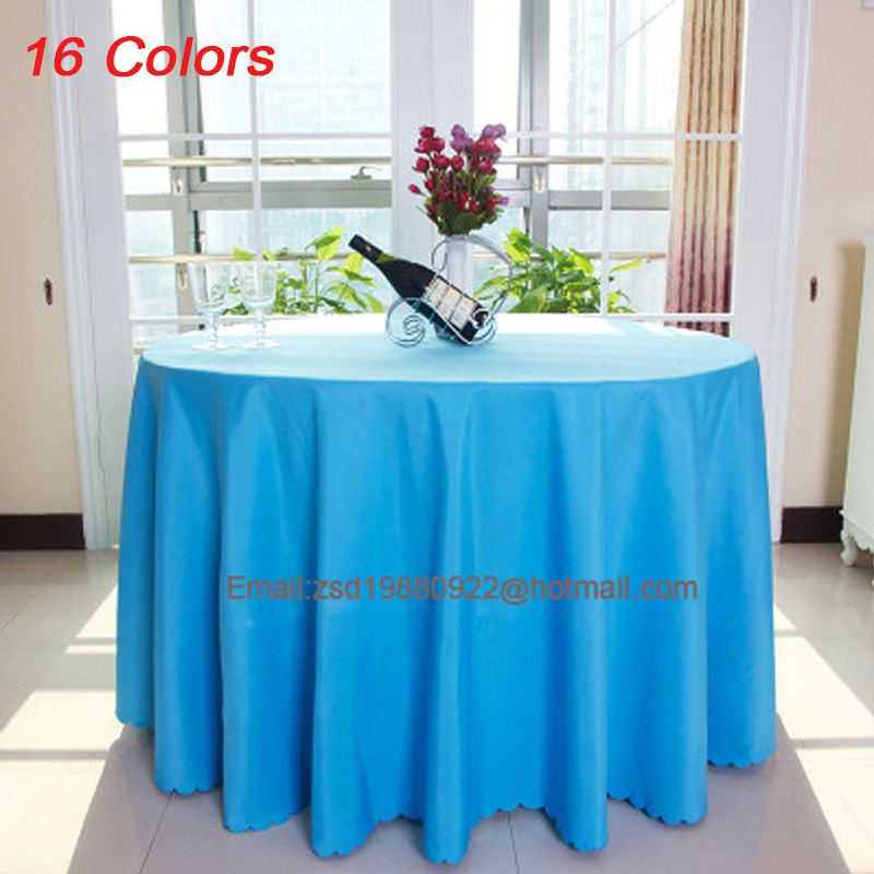 New 10 pcs Polyester Multi-color Round Table Cloth Nappe de table Wedding Tablecloth Party Table Cover Dining Table Linen(China (Mainland))