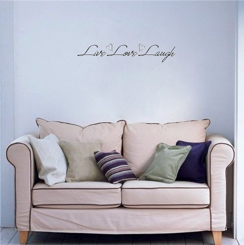 Live Love Laugh wall decals vinyl stickers home decor living room decoration wall art decals quote murals(China (Mainland))