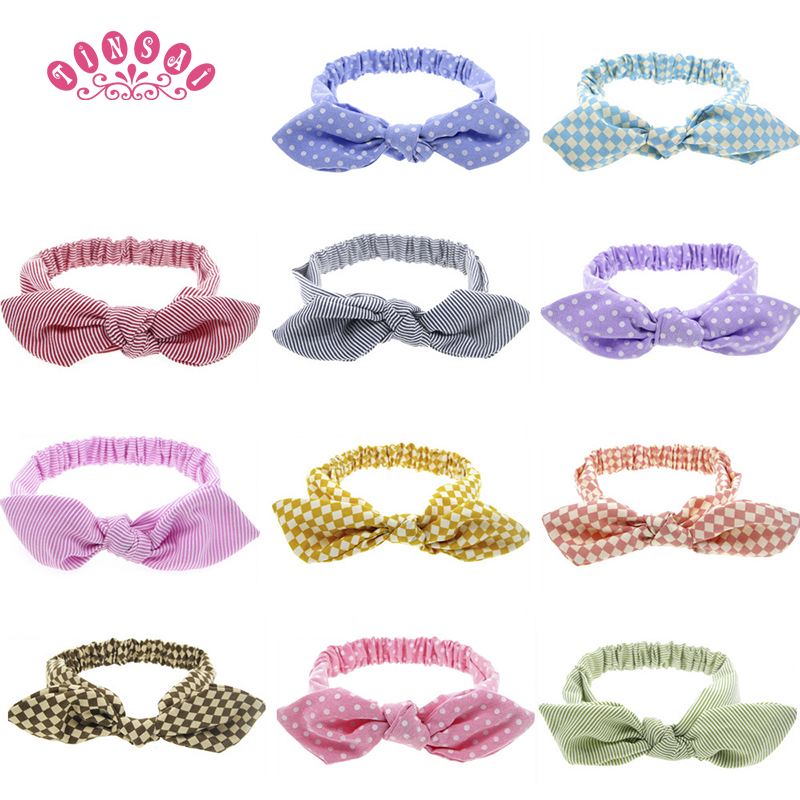 TINSAI Hair Bows Children's lovely hair band baby hair accessories High elastic cartoon rabbit ears baby girl hair accessories