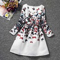 Autumn Fashion Girls Casual Dresses Butterfly Print Princess Dress Girl Clothing Cartoon Cute Children Costume Kids
