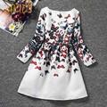 Autumn Fashion Girls Casual Dresses Butterfly Print Princess Dress Girl Clothing Cartoon Cute Children Costume Kids