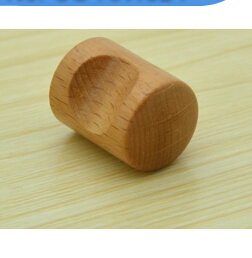 thumb shaped wood knobs 15mm mini Wood Cabinet pull beech wood Drawer Knobs 200pcs/lot(China (Mainland))