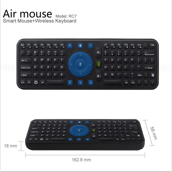 2.4G USB Wireless Keyboard Mini Keyboard Gyroscope Air Fly Mouse Remote for Mini PC Android TV Box Computer Peripherals(China (Mainland))