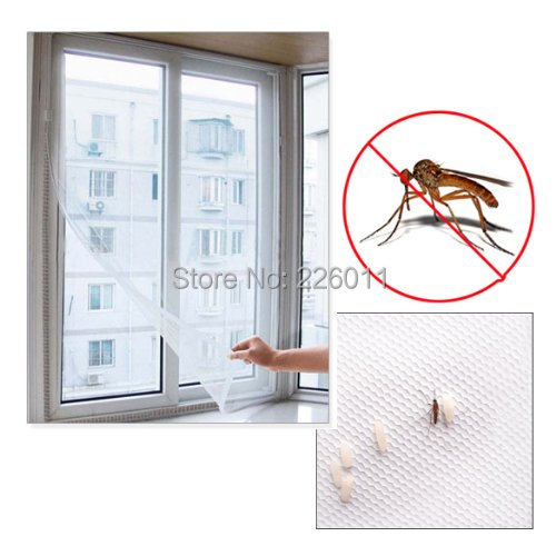 1pc DIY Insect Fly Bug Mosquito Curtain Protector Flyscreen Hot! Selling Window Net Mesh Screen(China (Mainland))