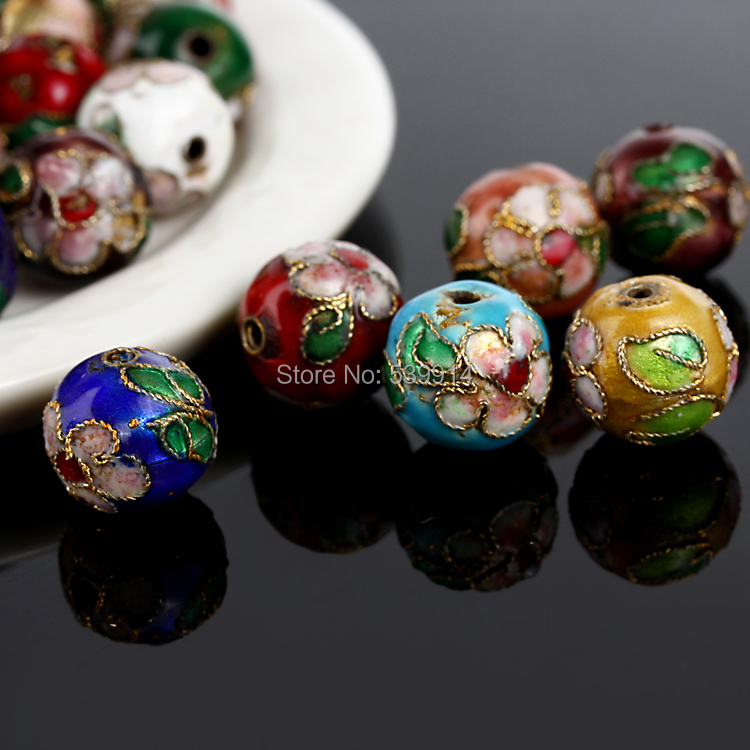 Free Shipping 8MM Mixed Assorted Cloisonne Charms Beads Carve Flower Filigree Cloisonne Beads Fit Diy Bead 200pcs/lot(China (Mainland))