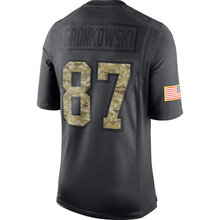 Men's New Brady embroidery Logos Gronkowski hot sale Julian Anthracite 2016 Salute to Service Black Color Free Shipping(China (Mainland))