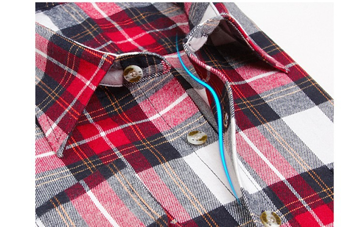 Men's Long Sleeve Plaid Shirts Flannel (17)
