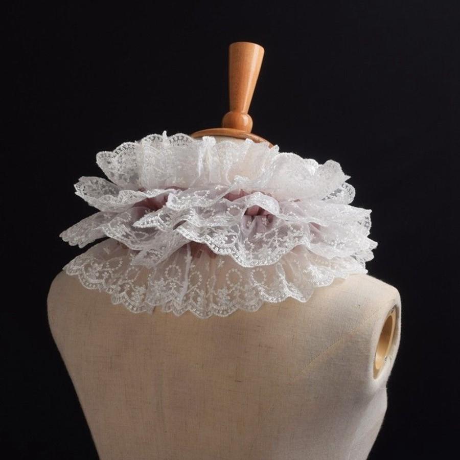 42cm Vintage Lace Collar Elizabethan Victorian Steampunk Neck Ruff