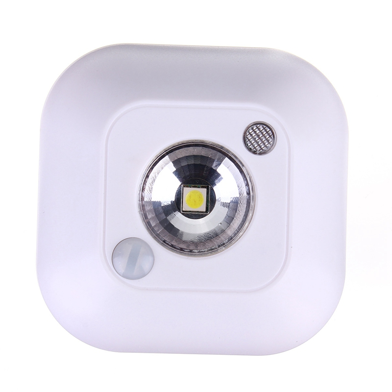 Best Price 2015 New Mini Wireless Infrared Motion Sensor Ceiling Night Light Battery Powered Porch Lamp(China (Mainland))