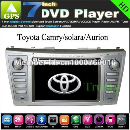toyota camry solara aurion car dvd player gps stereo navigation 2007 2008 2009 free dhl shipping. Black Bedroom Furniture Sets. Home Design Ideas
