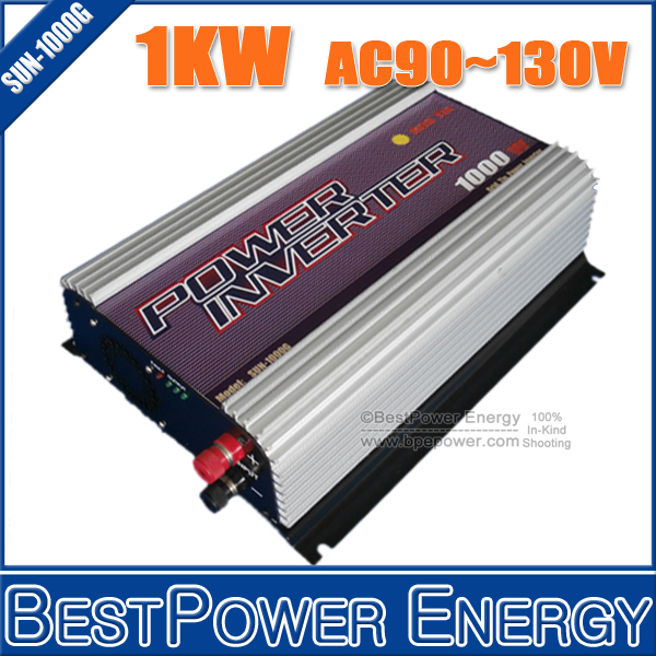 HOT SALE!! 1000W Grid Tie Power Inverter 22~60V DC to AC 90~130V, Pure Sine Wave On Grid Solar Inverter Built-in MPPT Function