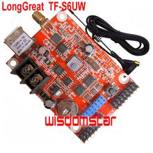 LongGreat TF-S6UW 640*32 pixel 1280*16 pixel USB port WIFI LED control card Support Single & Dual color LED module 10pcs/lot(China (Mainland))