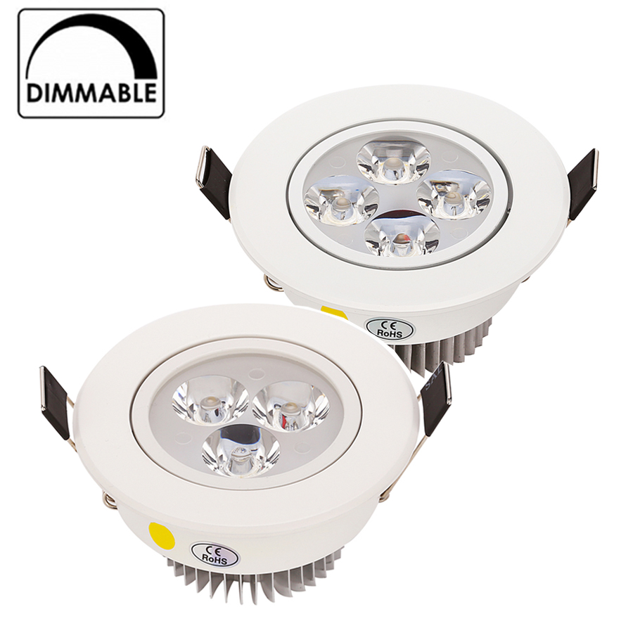 Hot Sale CREE 9W 12W LED Downlight Dimmable Warm White Cold White Recessed LED Lamp Spot Light AC85-265V(China (Mainland))