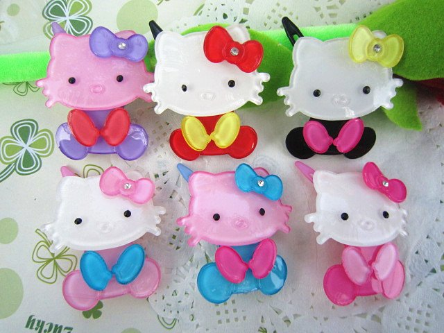 Freeshipping! New baby girls Lovely hello kitty series bow  Hair Clips/baby / infant  Hairpins / Hair Accessories <br><br>Aliexpress
