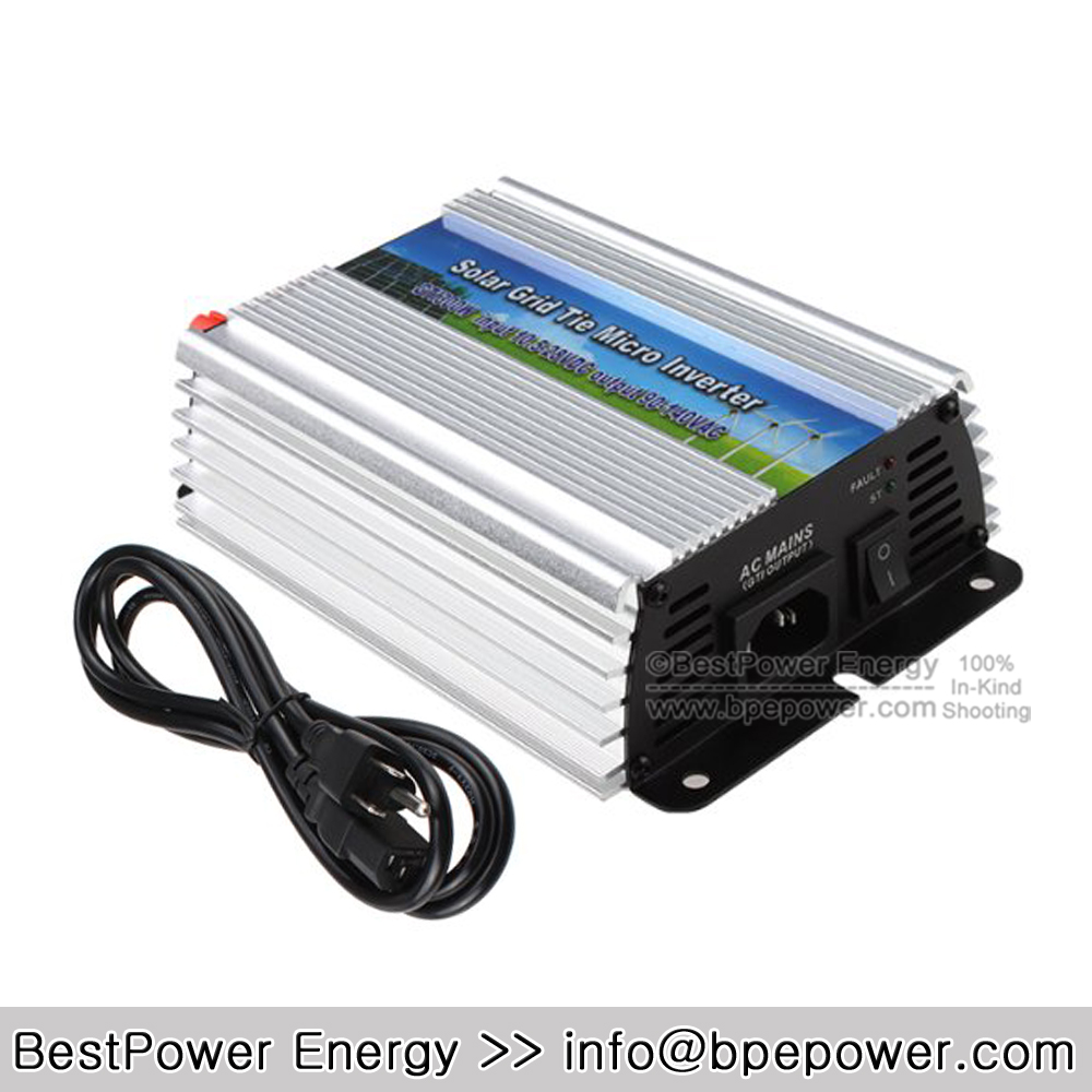 300 Watt Pure Sine Wave Inverter DC10.5-28V to AC90~140V 300W Grid Tie Micro Solar Inverters Suitable for 300-420W 18V PV Module