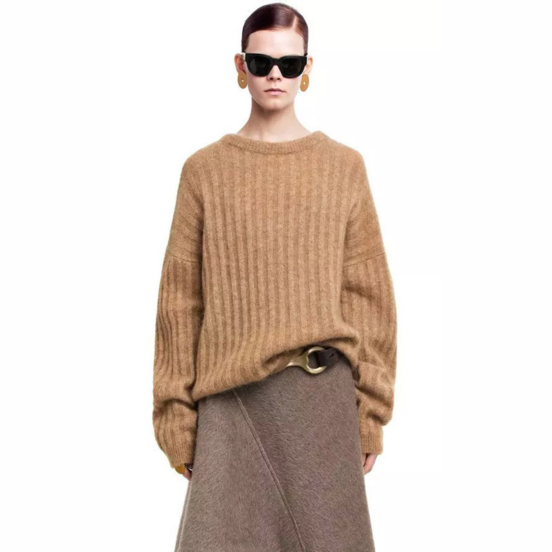 ACNE Studios 2016 Winter Women Sweaters And Pullovers Sweater Unisex O-Neck Sweater Solid Color Wear Loose Femme Male pullover(China (Mainland))