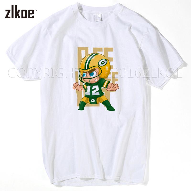 2017 Men T-shirt Big Beard #12 Aaron Rodgers Tees Short Sleeve Green Bay T SHIRT Men's Packers M-XXXL(China (Mainland))