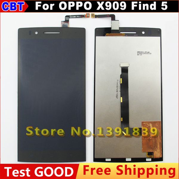 New Original For OPPO X909 Find 5 LCD Display + Digitizer Touch Screen for OPPO X 909 Find5 Touch Screen Glass+ Free Shipping