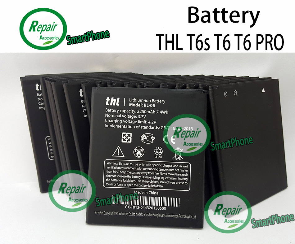 THL T6s T6 PRO Battery Brand New High Quality Original 2250mAh Lithium ion Battery Replacement For