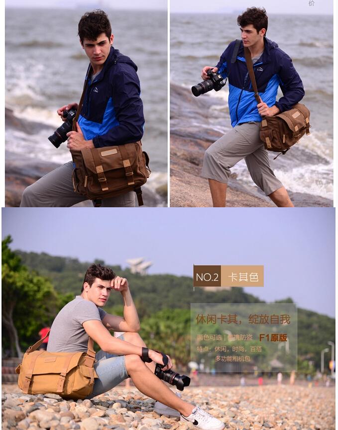 Сумка для видеокамеры F1 Caden DSLR Nikon Sony Canon Pentax Olymus Fuji F-1bb сумка для видеокамеры lowepro ii dslr canon nikon sony lp2rr