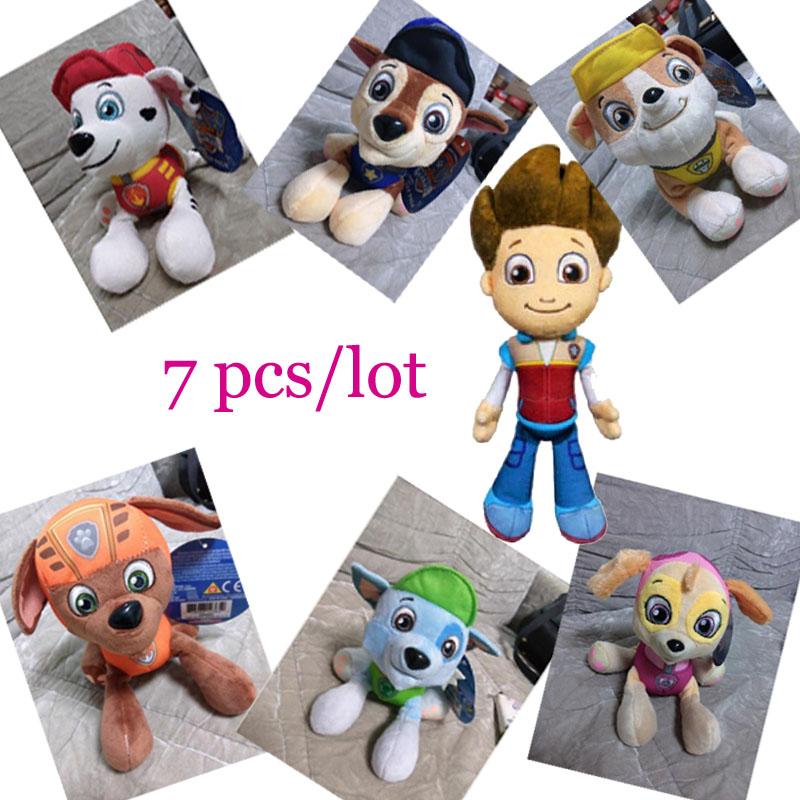 Гаджет  7pcs/lot 2015 New Paw Patrol Plush Puppy Toys high quality PP cotton Brinquedos Kids Soft Toys Gifts None Игрушки и Хобби