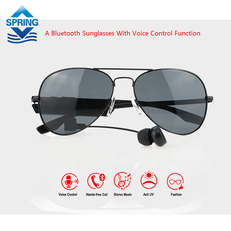 Gonbes Bluetooth Sunglasses With Voice Control Function Music Sport Glasses Smar