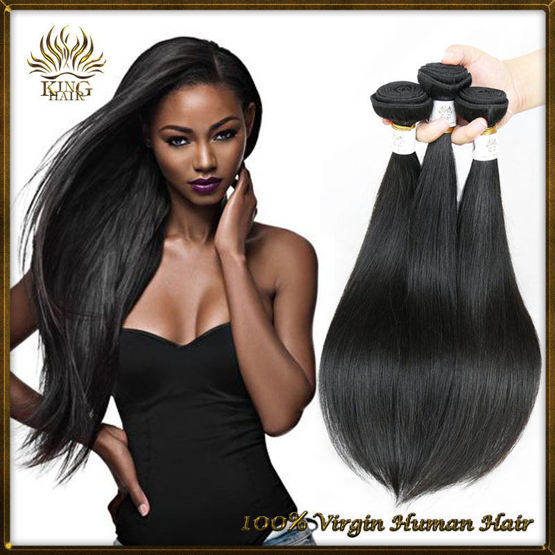 6A quality Brazilian hair Brazilian virgin hair straight unprocessed human hair Brazilian straight hair cheap wholesale(China (Mainland))
