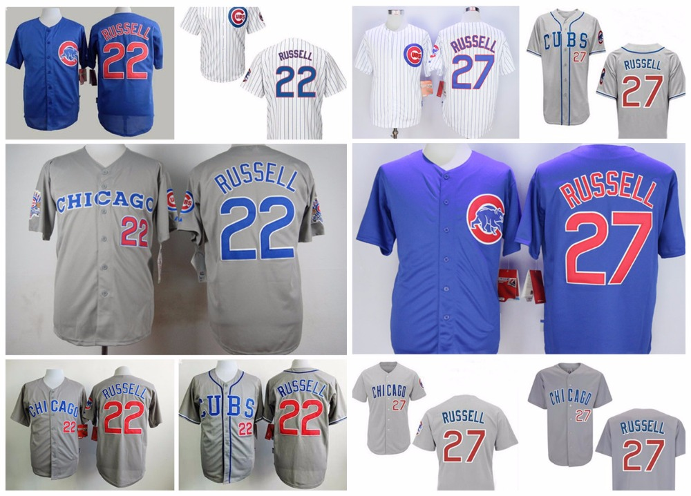 22 Addison Russell 27 jersey Mens 2016 new Chicago Cubs Blue White Grey Throwback Baseball jerseys Authentic Stitched shirt<br><br>Aliexpress