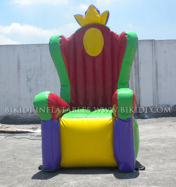 Inflatable Kids Birthday Chair: Inflatable Queen/King Throne Chair For Party Event K3026