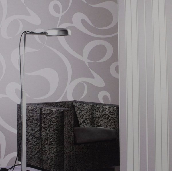 Фотография free shipping Velvet flocking non-woven wallpaper modern abstract pattern of black and white gray purple brown 5.3m2