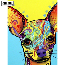 Buy Colorful Dog Icon New 5D DIY Diamond Painting Diamond Cross Stitch Full Diamond Embroidery Home Decoration Mosaic Painting Gift for $5.78 in AliExpress store