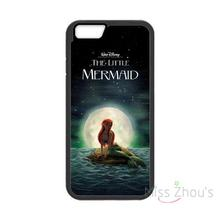 For iphone 4/4s 5/5s 5c SE 6/6s plus ipod touch 4/5/6 back skins mobile cellphone cases cover Ariel little mermaid