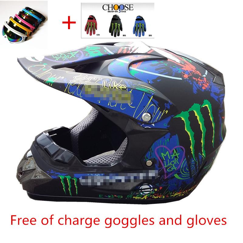 Cross helmet motorcycle helmet full face helmet of off-road racing helmet