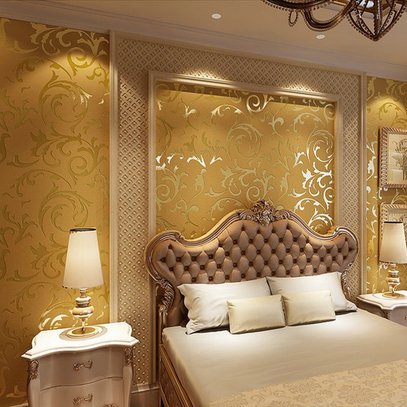 Wallpaper wood picture more detailed picture about for Gold wallpaper for walls