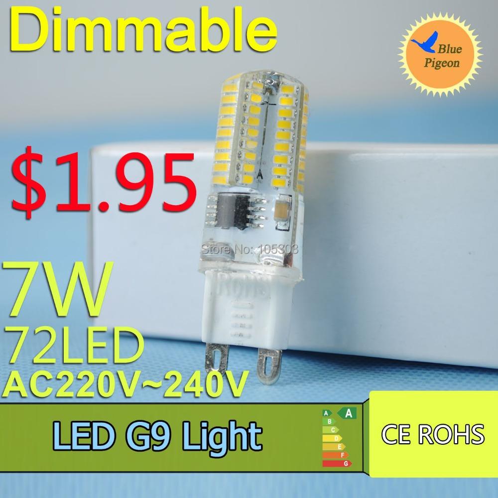 G9 dimmable LED Bulb 220V 7W 9W 10W LED Lamp G9 SMD 2835 electronic CREE LED light 360 degree Beam Angle led spotlight lamps(China (Mainland))