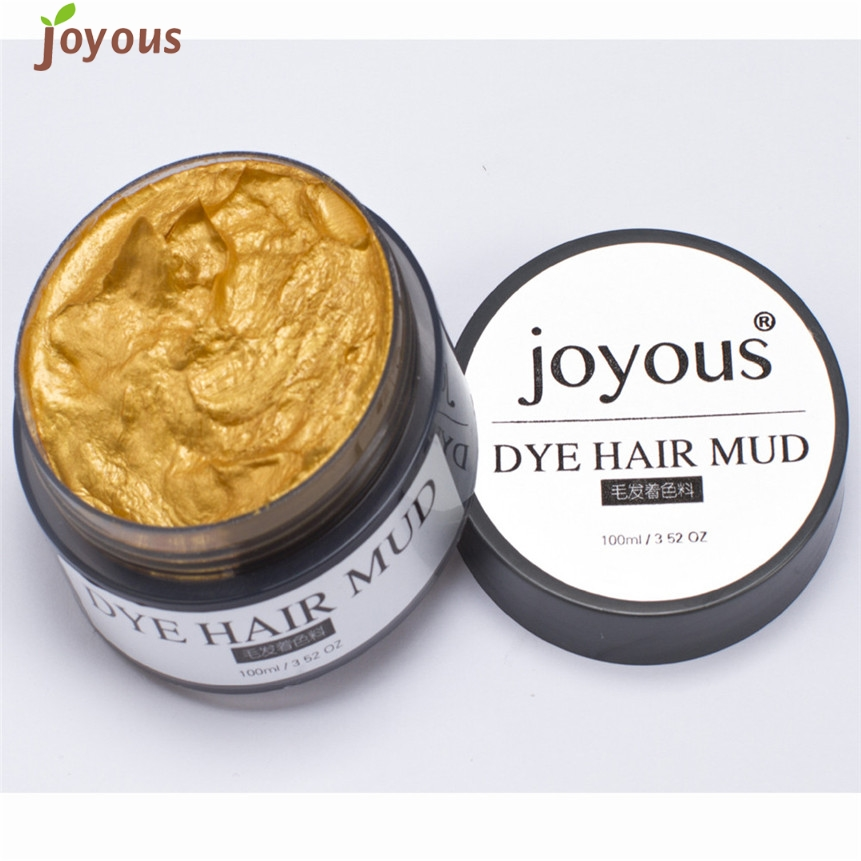 Hair Color ColorWomen Joyous One-time Spray Mud Cream Women Men Hair Dye 160905 Drop Shipping(China (Mainland))