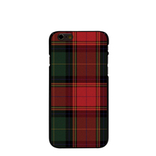 07287 RED BLUE TARTAN SCARF FASHION Hard black Cover cell phone Case for iPhone 4 4S 5 5S 5C 6 6S Plus 6SPlus