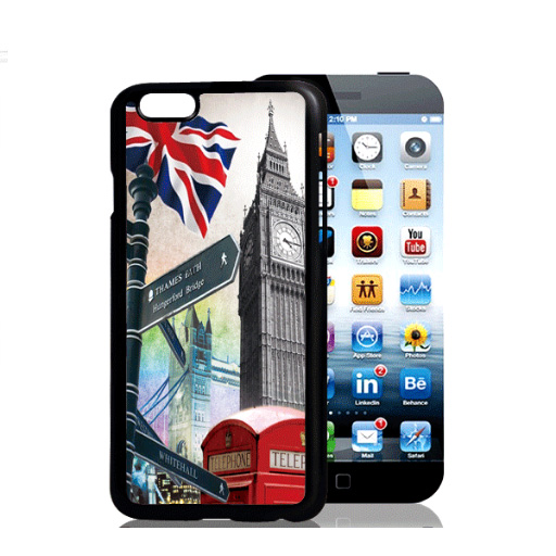 Hard Skin Pattern 3D Phone Case For iphone 6 Plus 3D British Flag USA Flag Protective Back Cover Shell Hot Sale(China (Mainland))