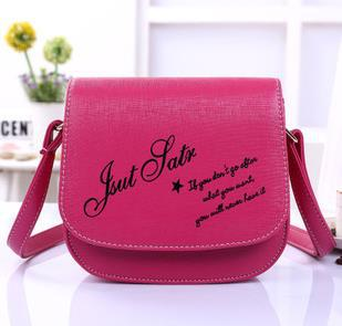2015 New Fashionable Leather Bags Girls Casual Mini Shoulder Candy Color Women Messenger Letter Printing - Queen Co., Ltd. store