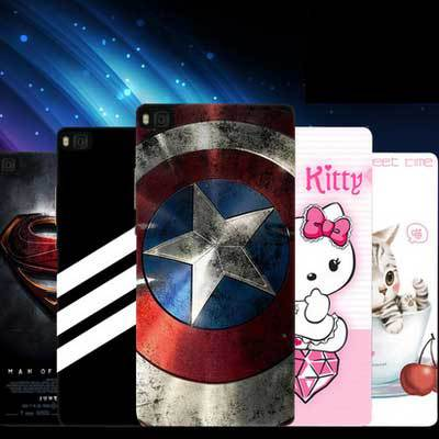 Thin appearance Simple design value offers huawei ascend p8 Case Slim Plastic Case + colored cartoon cover For ascend p8 case(China (Mainland))