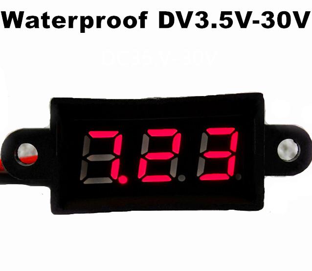 voltmeter waterproofing DV3.5V-30V Ammeter Voltmeter Gauge Amperemeter Volt Meter Car Tester Digital Current Voltage Monitor(China (Mainland))