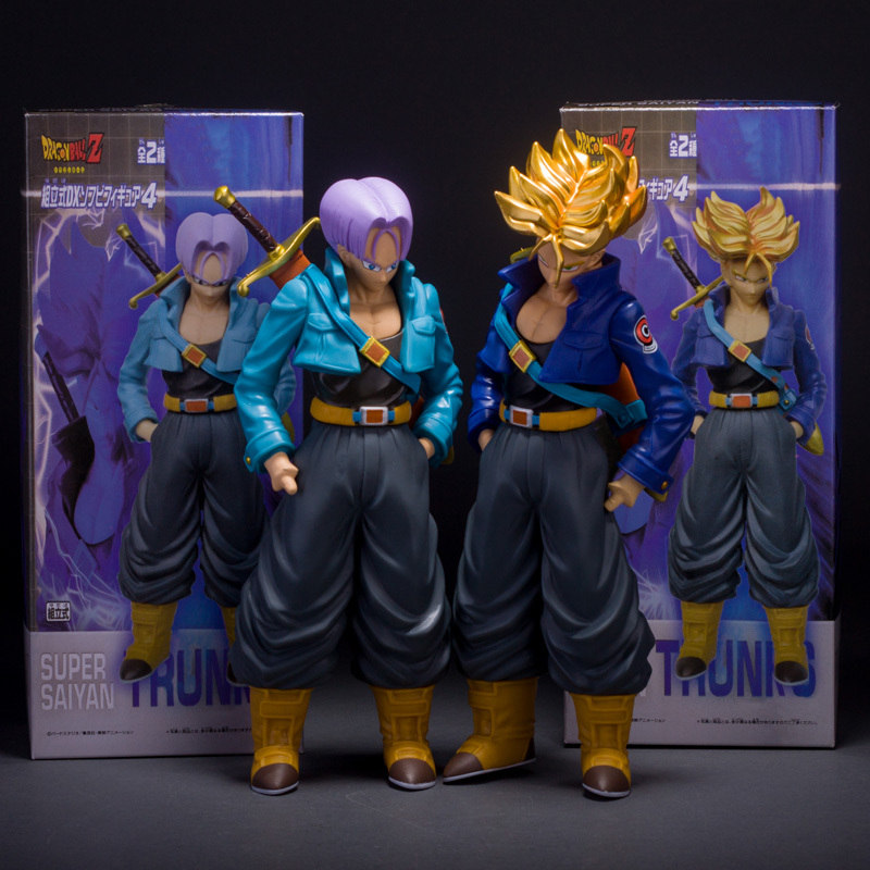 Dragon Ball Z Super Saiyan Trunks PVC Action Figure Toy Collective Doll With Box Free Shipping(China (Mainland))