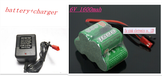 6V 2/3A 1600MAH 2/3A 5x1.2V  NI-MH Rechargeable battery trapezoidal gasoline receiver battery pack batterise+charger<br><br>Aliexpress