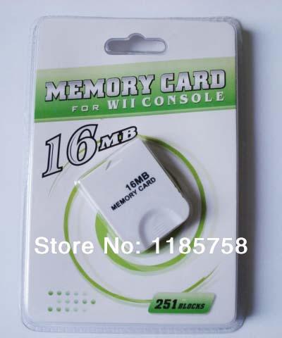 10 pcs/lot New White 16MB Memory Card For Nintendo Wii GameCube GC 251 Blocks(China (Mainland))