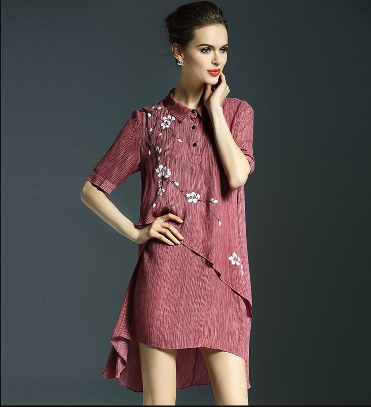 2016 Hot designer women's fashion slim dresses printing girls casual elegant China style nice soft dress plus size XL L M #H914(China (Mainland))